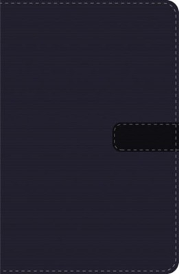 LBLA UltraThin Compact Bible--soft leather-look, navy blue with zipper  -