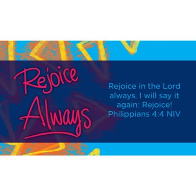 Rejoice Always Scripture Cards, Pack of 25  -