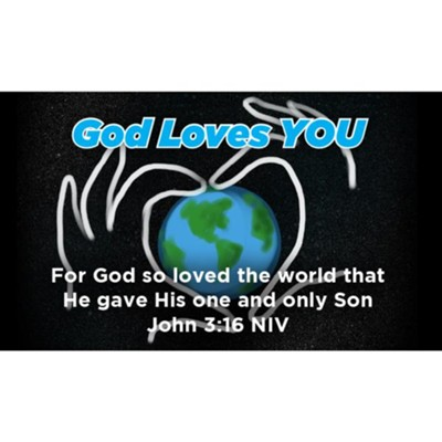 God Loves You Scripture Cards, Pack of 25  -