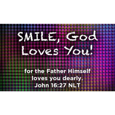 Smile, God Loves You Scripture Cards, Pack of 25  -