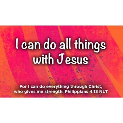 I Can Do All Things With Jesus Scripture Cards, Pack of 25  -