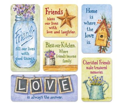 Country Friend Magnet, Set of 6  -