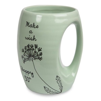 Happy 50th, Make a Wish, Birhtday Mug  -