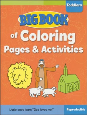 Big Book of Coloring Pages and Activities for Toddlers  -
