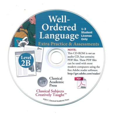 Well-Ordered Language Level 2B Extra Practice & Assessments PDF CD-ROM  -     By: Tammy Peters, Daniel Coupland