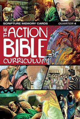 CSB Action Bible Scripture Memory Cards, Quarter 4  -