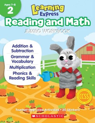 Learning Express Reading and Math Jumbo Workbook Grade 2  -