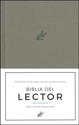 Biblia del Lector NVI, Tela Enc. Dura, Olivo  (NVI Reader's Bible, Olive Cloth Over Board)  -