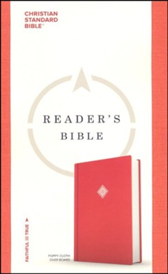 CSB Reader's Bible, Poppy Cloth Over Board   -