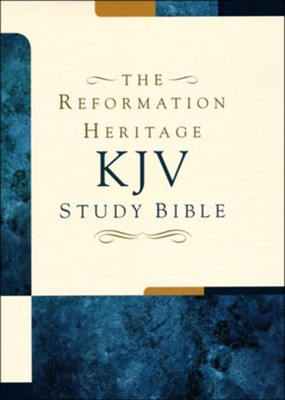 KJV Reformation Heritage Study Bible, Premium Black Dollaro Leather  -