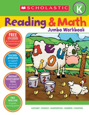 Reading & Math Jumbo Workbook: Grade K  -