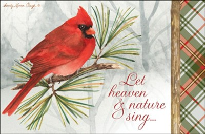Let Heaven And Nature Sing, Christmas Cards, Box of 20  -     By: Sandy Clough