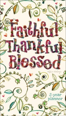Faithful, Thankful, Blessed, 2020-21 Pocket Planner  -     By: Robbin Rawlings