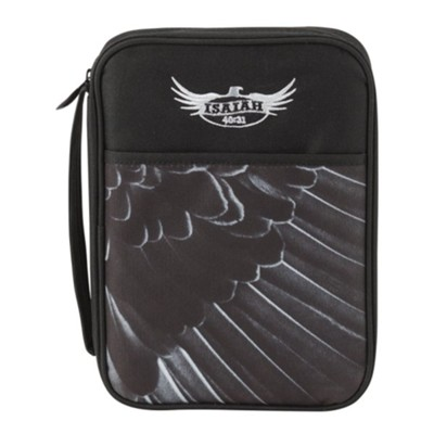 Eagle Wing, Isaiah, 40:31, Bible Cover, Black, Thinline  -