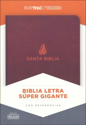 RVR 1960 Super Giant-Print Bible--bonded leather, brown (indexed)  -