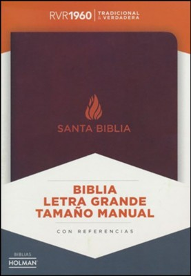 RVR 1960 Large-Print Personal-Size Bible--bonded leather, brown (indexed)  -