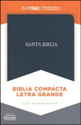 RVR 1960 Large-Print Compact Bible--bonded leather, black (indexed)  -