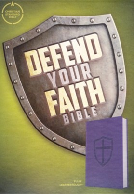 CSB Defend Your Faith Bible The Apologetics Bible for Kids, , Plum LeatherTouch Imitation Leather  -     Edited By: Jesse Florea
