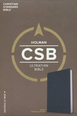 CSB Ultrathin Bible, Black Genuine Leather  -