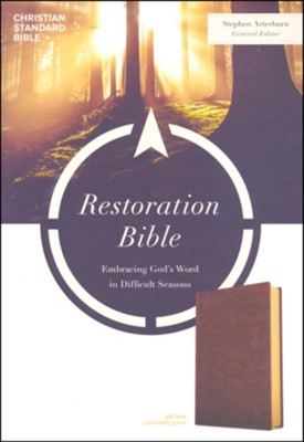 CSB Restoration Bible--soft leather-look, brown  -     By: Stephen Arterburn