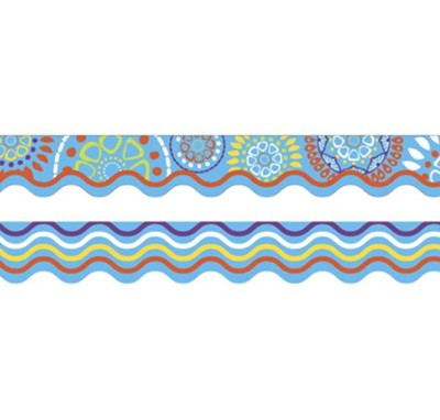 Moroccan Turquoise Double-Sided Border   -