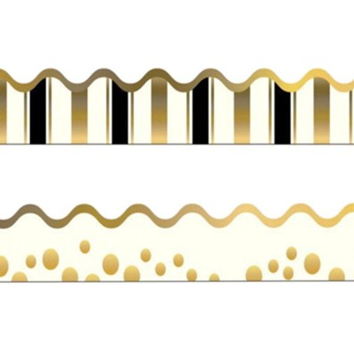 Gold Coins Double-Sided Border   -