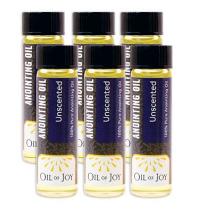 Anointing Oil: Pack of 6 vials   -
