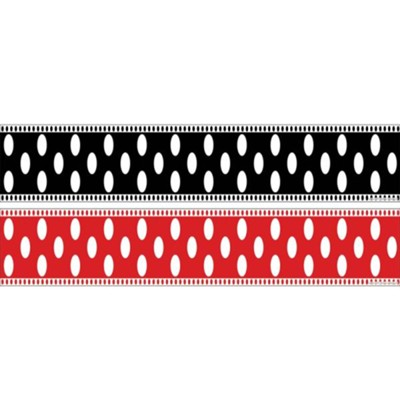 Double-Sided Trim Borders: Dots (35 Feet)   -