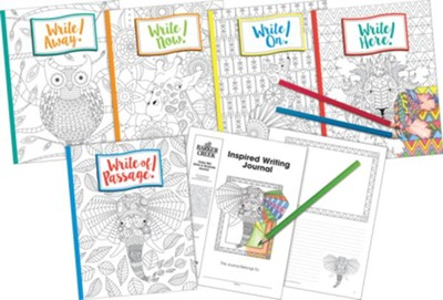 Inspired Writing Journal Set: Color Me! Boho Set of  Ten (2 each of 5 books)  -