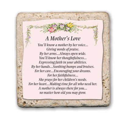 A Mother's Love Sentiment Tile  -