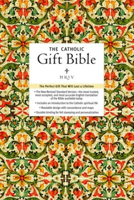 NRSV Catholic Gift Bible, Imitation Leather  -     By: Harper Bibles