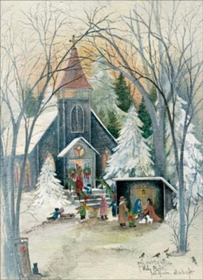 Holy Night Christmas Cards, Box of 12  -     By: Pat Richter