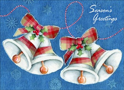 Bells Collage Christmas Cards, Box of 12  -     By: Emma Leach