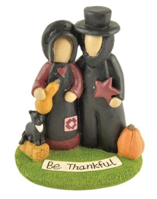 Be Thankful, Amish Couple, Figurine  -     By: Esther O'Hara