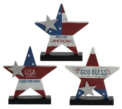 Americana Stars Figurines, Set of 3  -     By: Barbara Lloyd