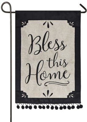 Bless This Home Burlap Flag, Small  -