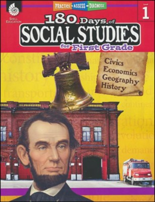 180 Days of Social Studies for First Grade   -