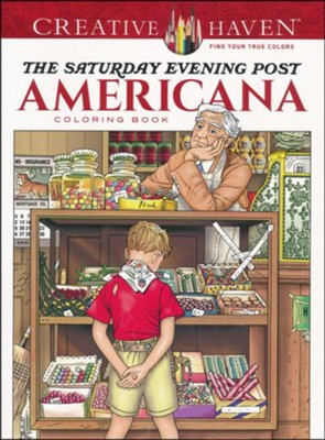 The Saturday Evening Post Americana Coloring Book  -     By: Marty Noble