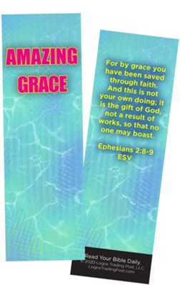 Amazing Grace, Ephesians 2:8-9 Bookmarks, Pack of 25  -
