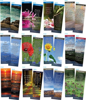 Bible Verse Bookmarks Variety Pack of 60, Assortment 1  -