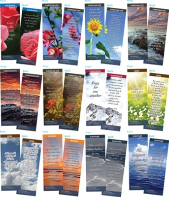 Bible Verse Bookmarks Variety Pack of 60, Assortment 5  -