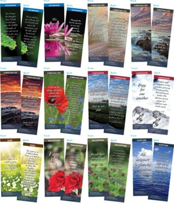 Bible Verse Bookmarks Variety Pack of 60, Assortment 9  -