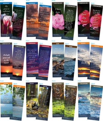 Bible Verse Bookmarks Variety Pack of 60, Assortment 11  -