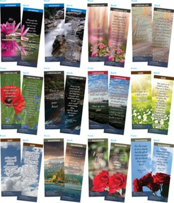 Bible Verse Bookmarks Variety Pack of 60, Assortment 12  -