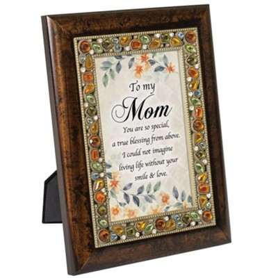 To My Mom You Are So Special, Jeweled Amber Plaque  -