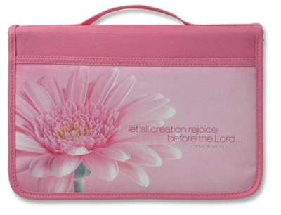Let All Creation Rejoice Canvas Bible Cover, Large   -