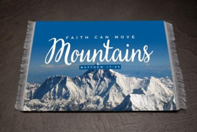 Faith Can Move Mountains Carpet Mouse Pad, Large   -