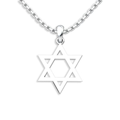 Star Of David Pendant, Sterling Silver  -