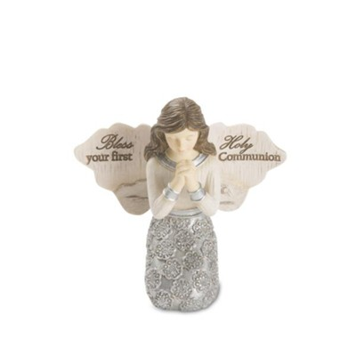 Bless Your First Holy Communion, Praying Angel Figurine, Girl  -