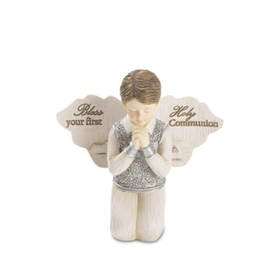 Bless Your First Holy Communion, Praying Angel Figurine, Boy  -